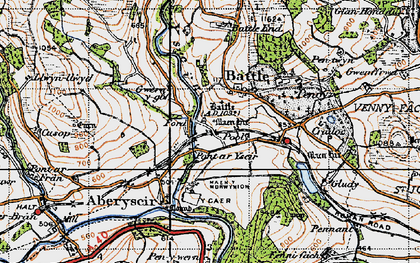 Old map of Battle in 1947