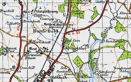 Old map of Albrightlee in 1947