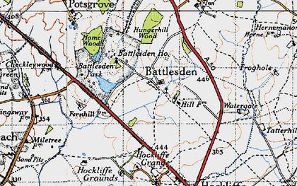 Old map of Battlesden in 1946