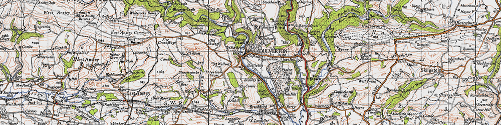 Old map of Wilway in 1946