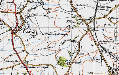 Old map of Battram in 1946