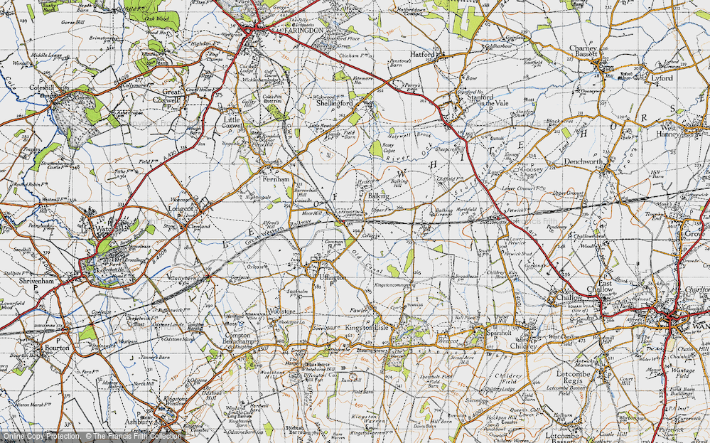 Old Map of Baulking, 1947 in 1947
