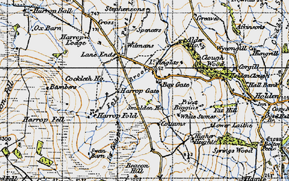 Old map of Bambers in 1947