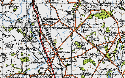 Old map of Bay Horse in 1947