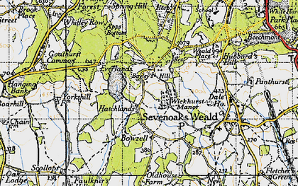 Old map of Wickhurst Manor in 1946