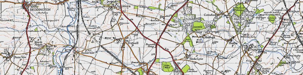 Old map of Baynard's Green in 1946