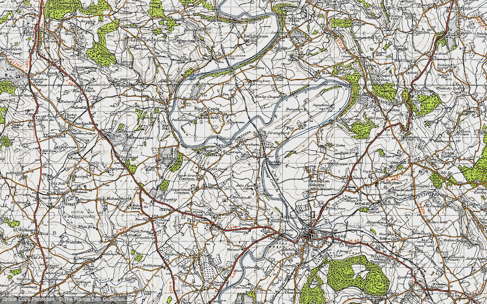 Old Map of Historic Map covering Backney in 1947