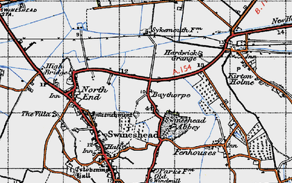 Old map of Baythorpe in 1946