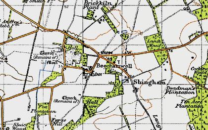 Old map of Beachamwell in 1946