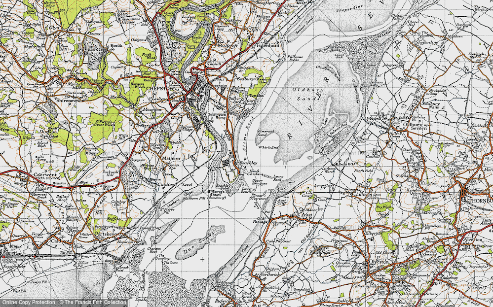 Old Map of Historic Map covering Whirls End in 1946