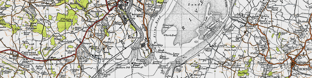 Old map of Whirls End in 1946