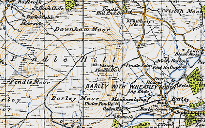Old map of Beacon in 1947