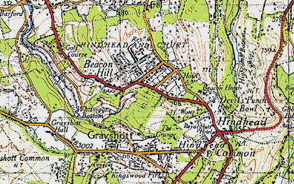 Old map of Beacon Hill in 1940