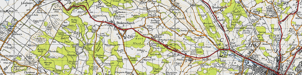Old map of Wycliffe Centre in 1947