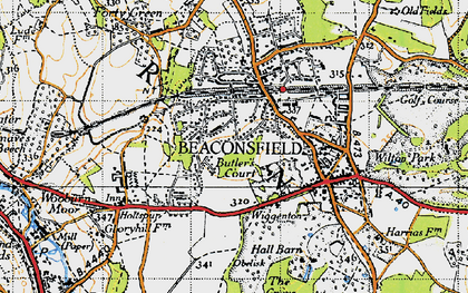 Old map of Beaconsfield in 1945
