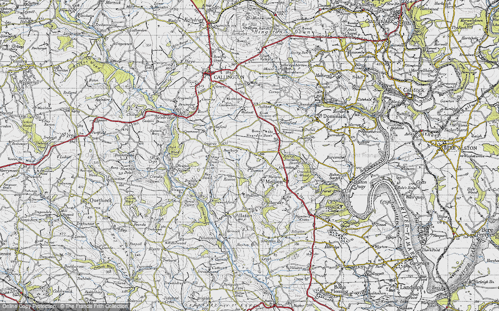 Old Map of Historic Map covering Axford in 1946