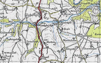 Old map of Bealsmill in 1946