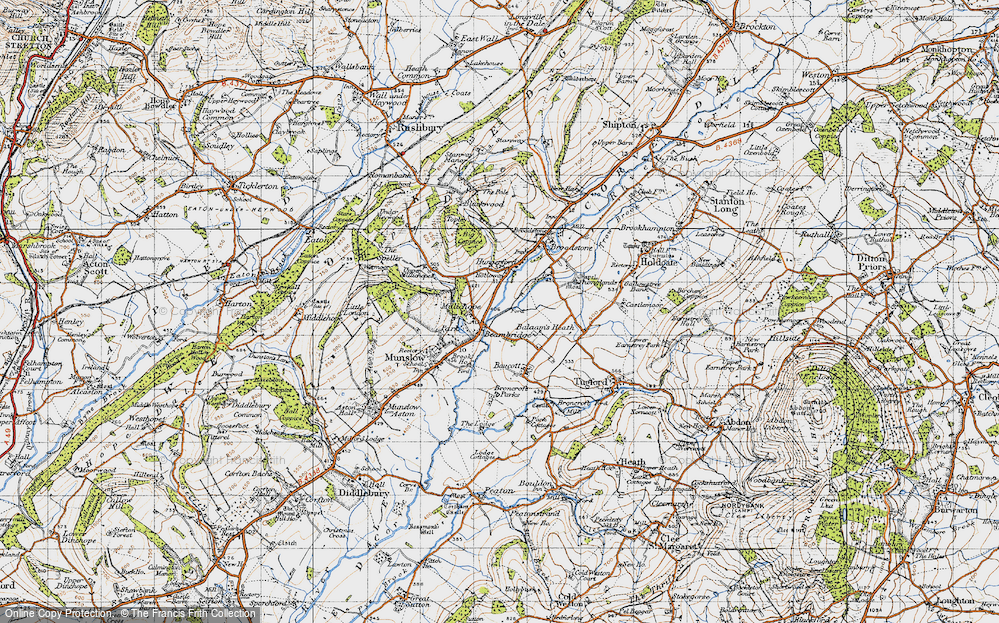 Old Map of Historic Map covering Balaam's Heath in 1947