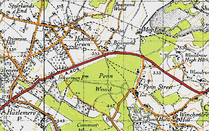 Old map of Beamond End in 1946