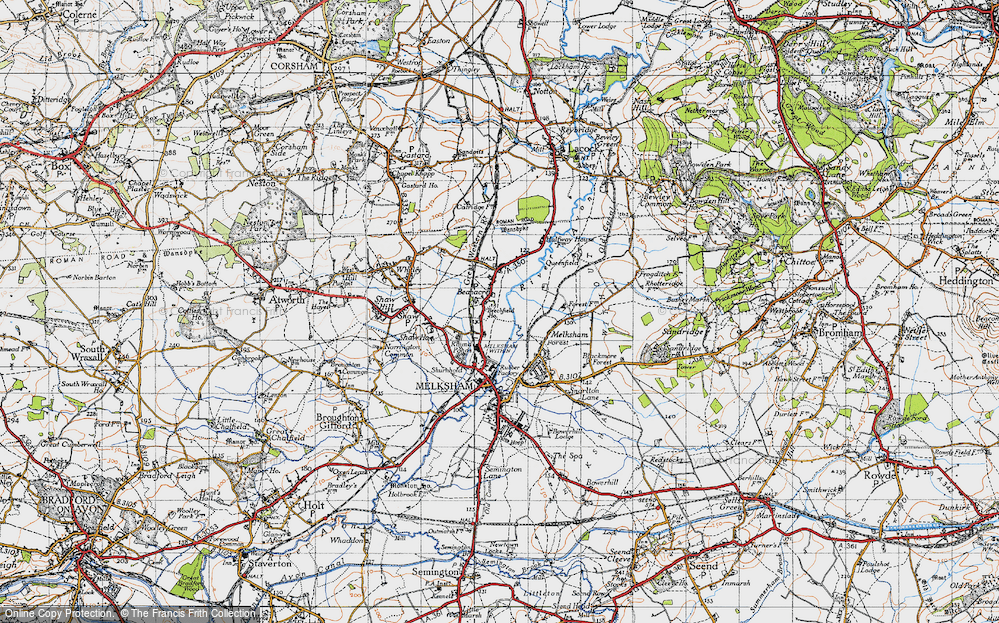 Old Map of Beanacre, 1940 in 1940