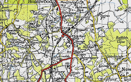 Old map of Wigmore in 1940