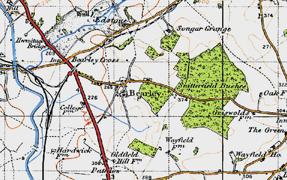 Old map of Bearley in 1947