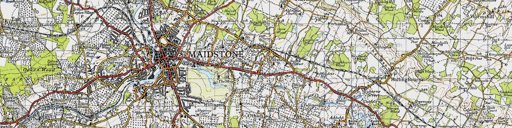 Old map of Bearsted in 1946