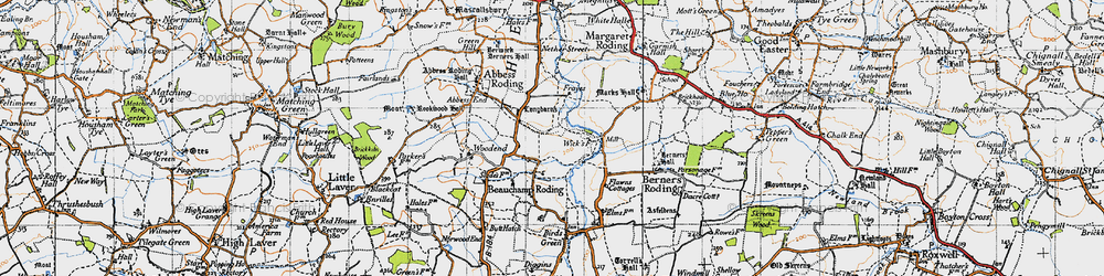 Old map of Whaypules in 1946