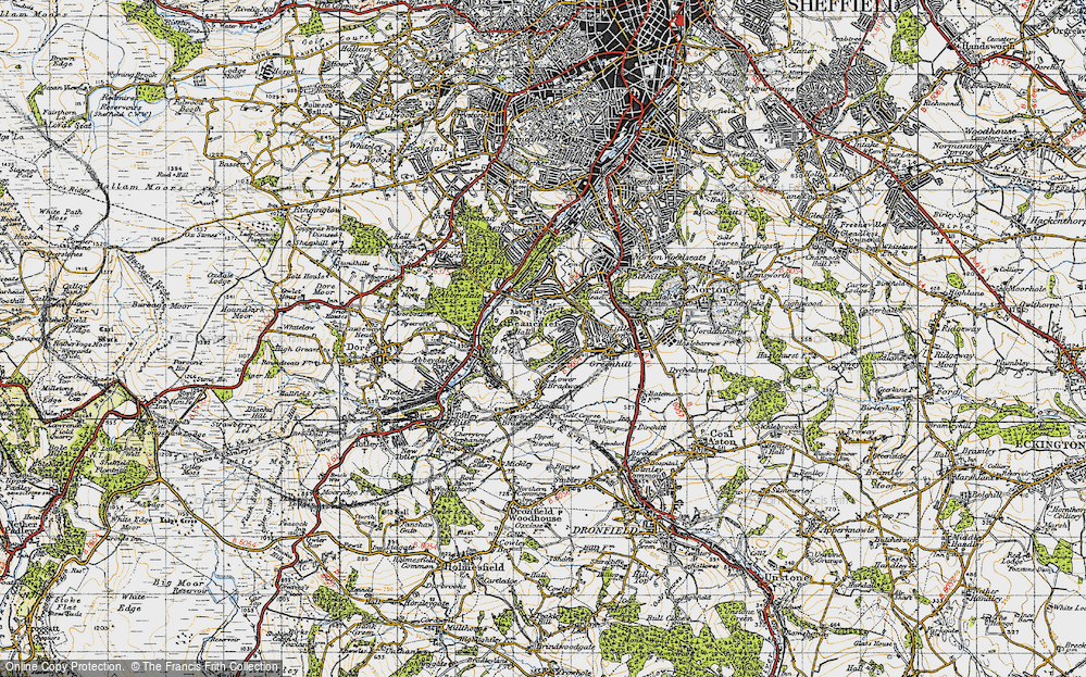 Old Map of Beauchief, 1947 in 1947