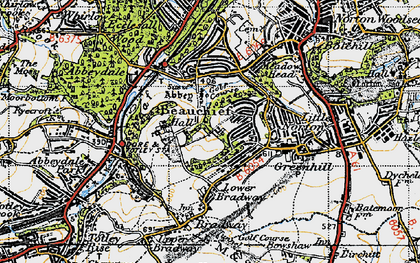 Old map of Beauchief in 1947