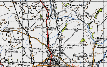 Old map of Beaumont Hill in 1947