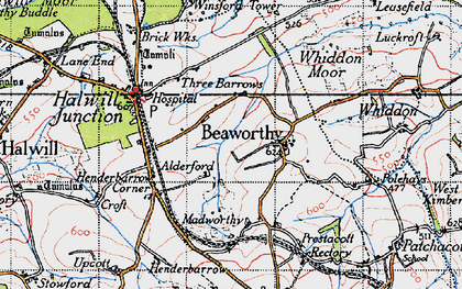 Old map of Alderford in 1946