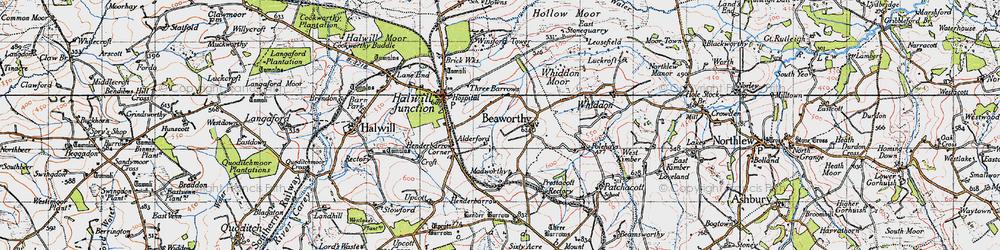 Old map of Alderford in 1946