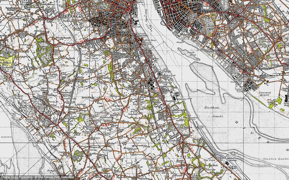 Old Map of Bebington, 1947 in 1947
