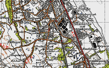 Old map of Bebington in 1947