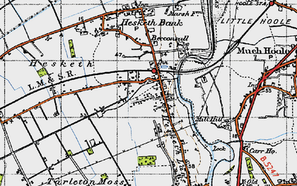 Old map of Becconsall in 1947