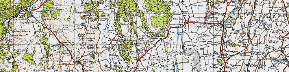Old map of White Scar in 1947