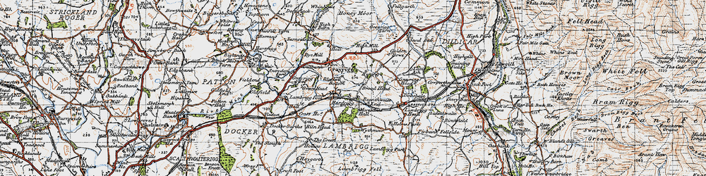 Old map of Wythmoor in 1947