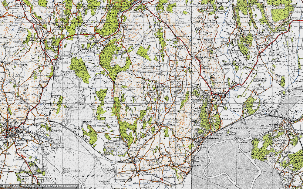 Old Map of Historic Map covering Wood Broughton in 1947
