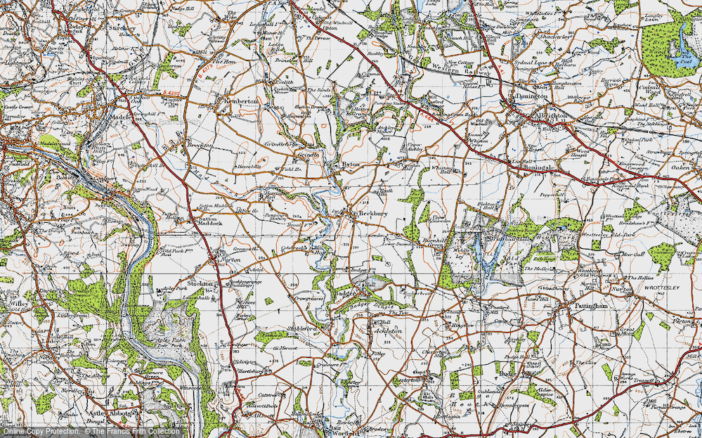 Old Map of Beckbury, 1946 in 1946