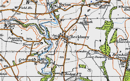 Old map of Beckbury in 1946