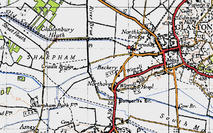 Old map of Beckery in 1946