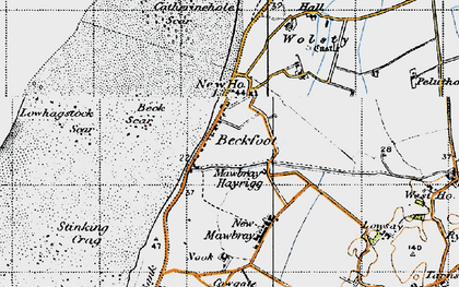 Old map of Beckfoot in 1947