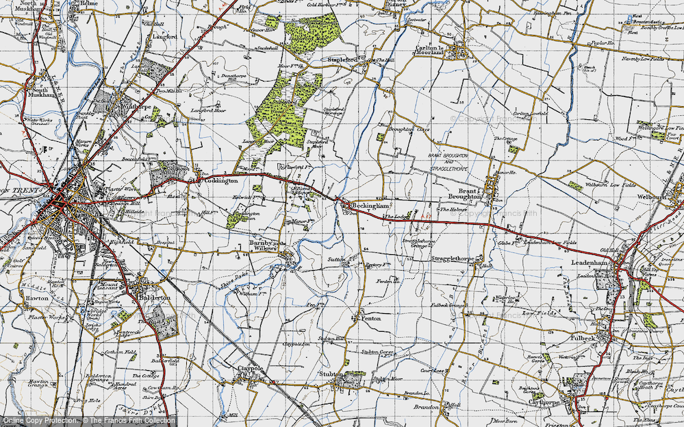 Old Map of Beckingham, 1946 in 1946