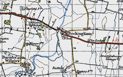 Old map of Beckingham in 1946