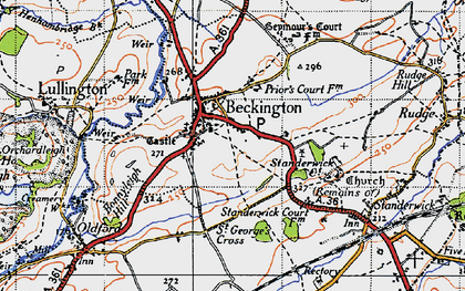 Old map of Beckington in 1946