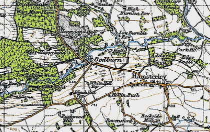 Old map of Windy Bank in 1947