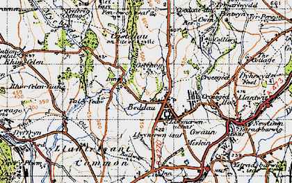 Old map of Beddau in 1947