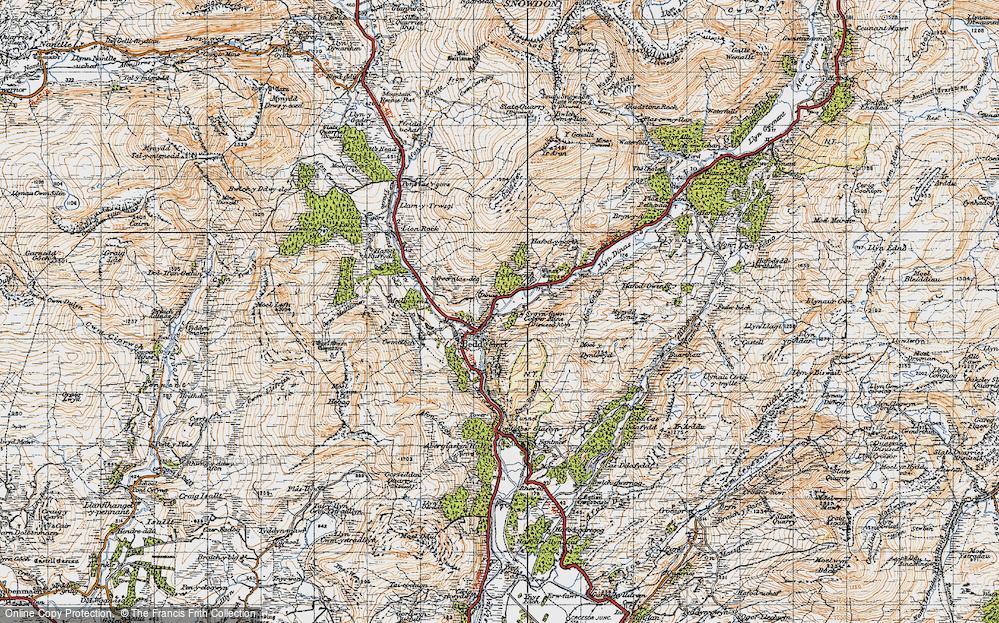 Old Map of Beddgelert, 1947 in 1947