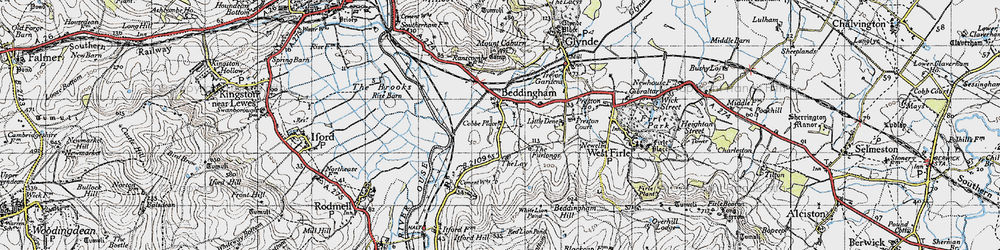 Old map of White Lion Pond in 1940